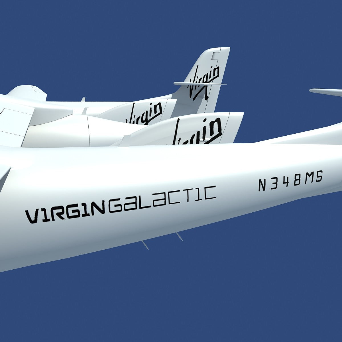 3D Scaled Composites White Knight Model