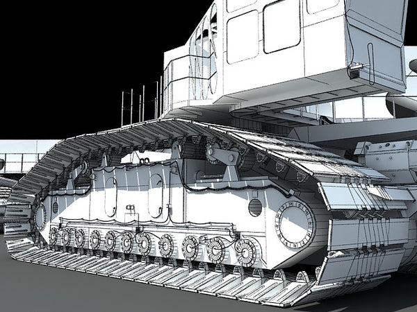 Shuttle Crawler Transporter NASA 3D Models – 3D Horse