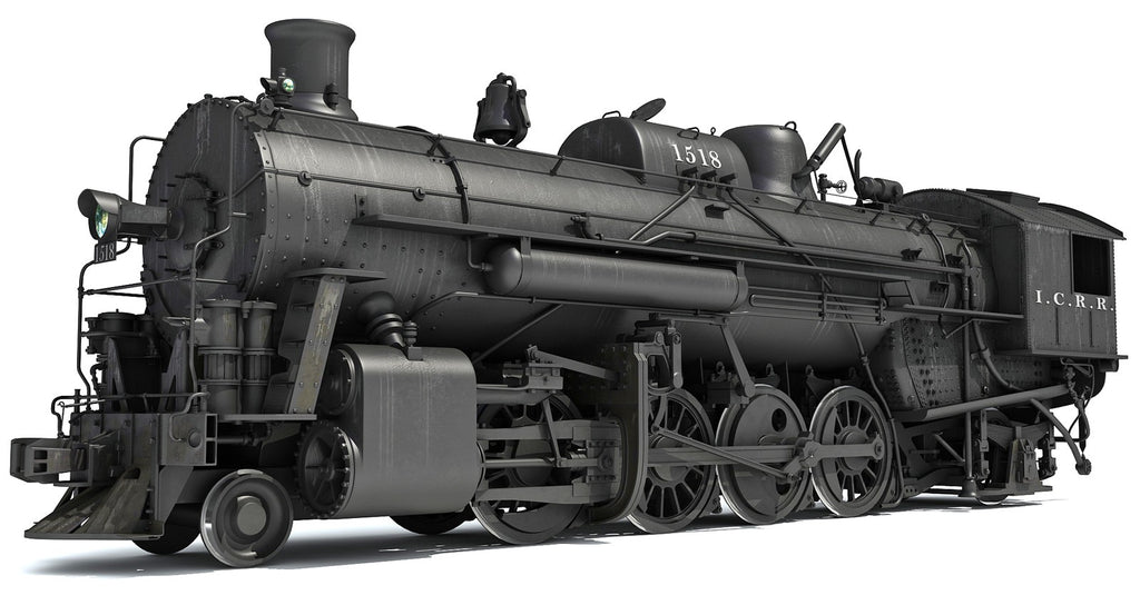 Steam Locomotive Train 3D Models