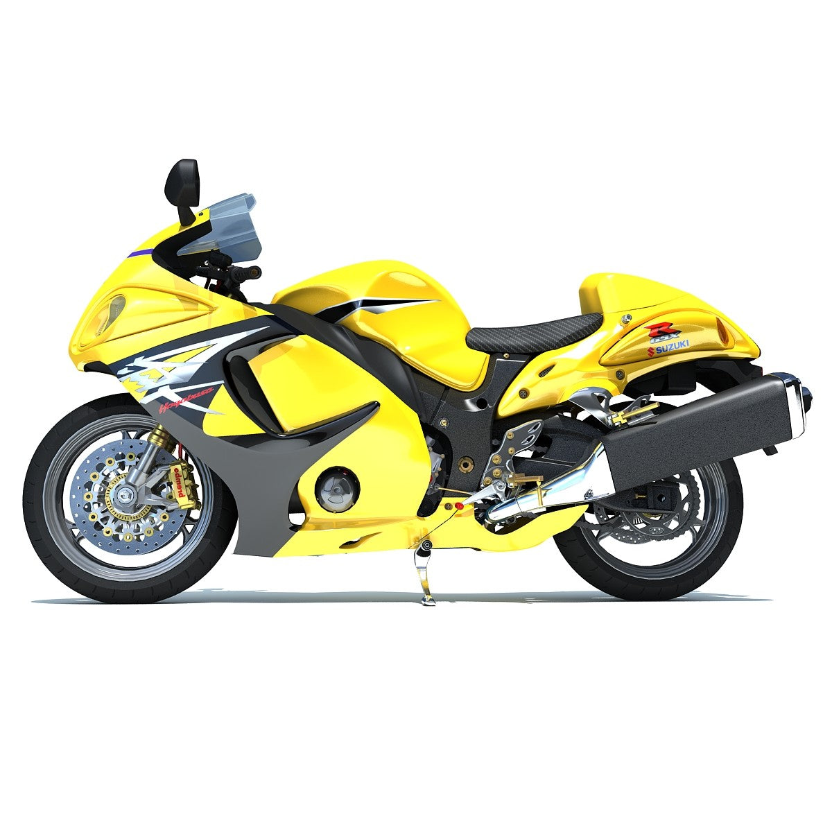 Suzuki Sport Motorcycle 3D Model
