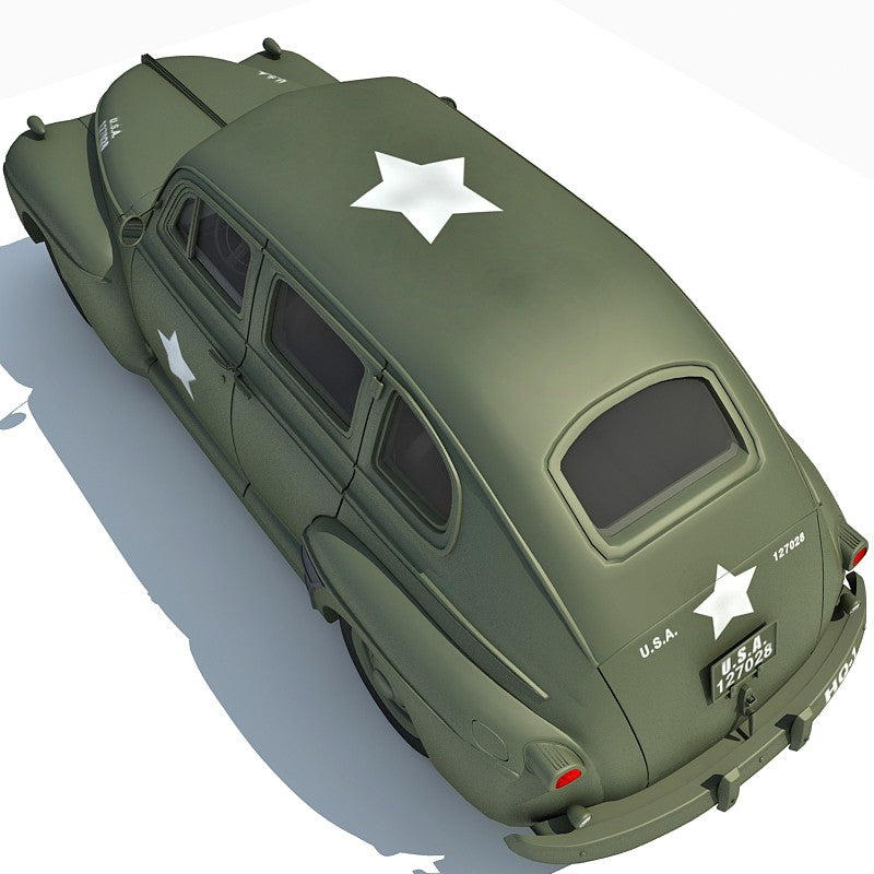 US Army Staff Car 3D Model