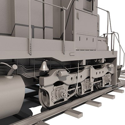 3D Train with Wagon