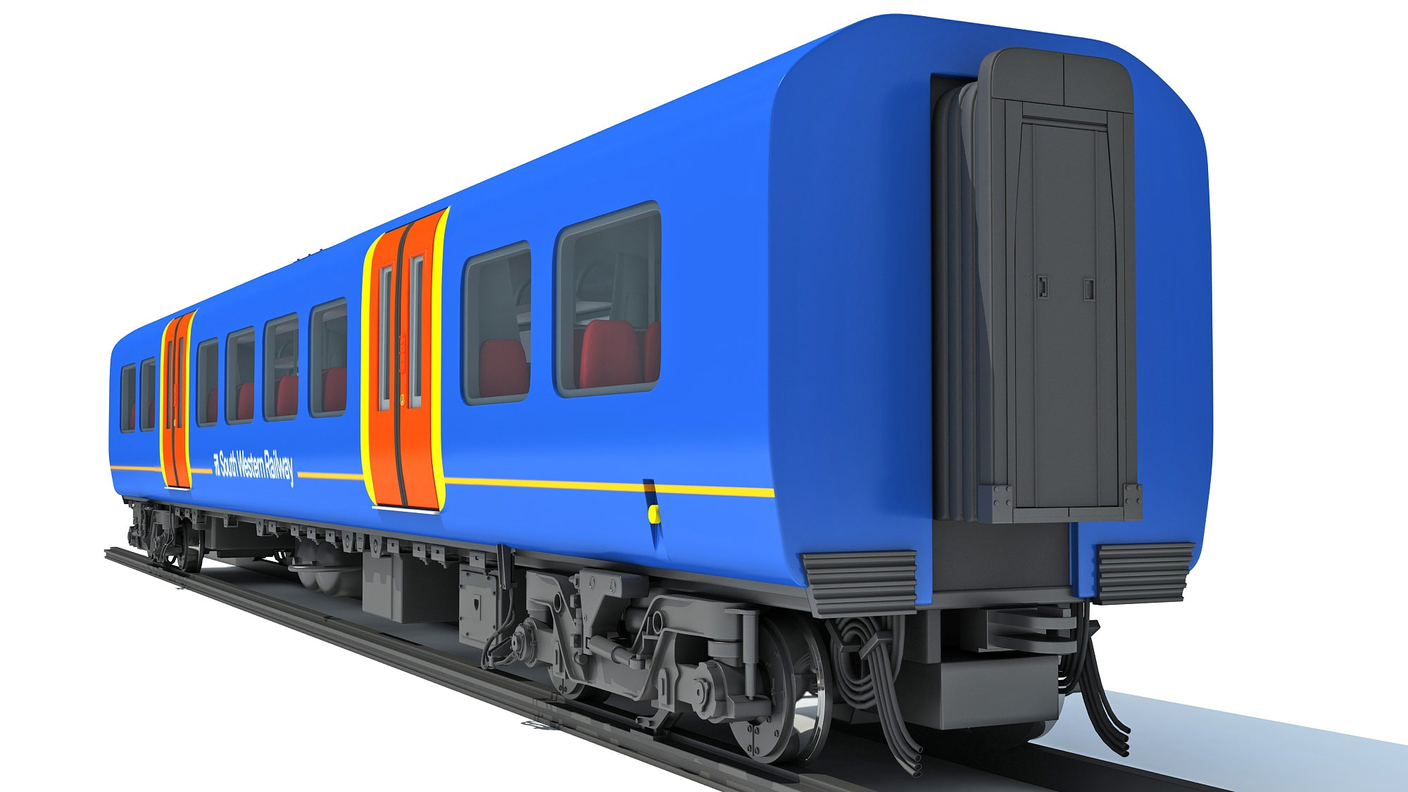 Train Passenger Coach Car 3D Models