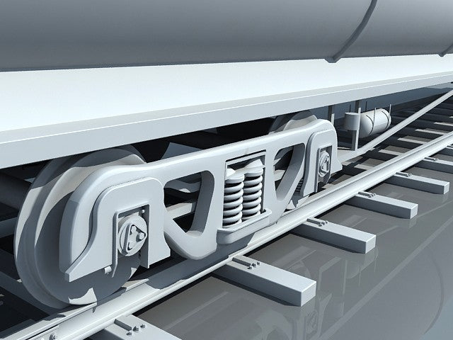 3D Train Tanker Car