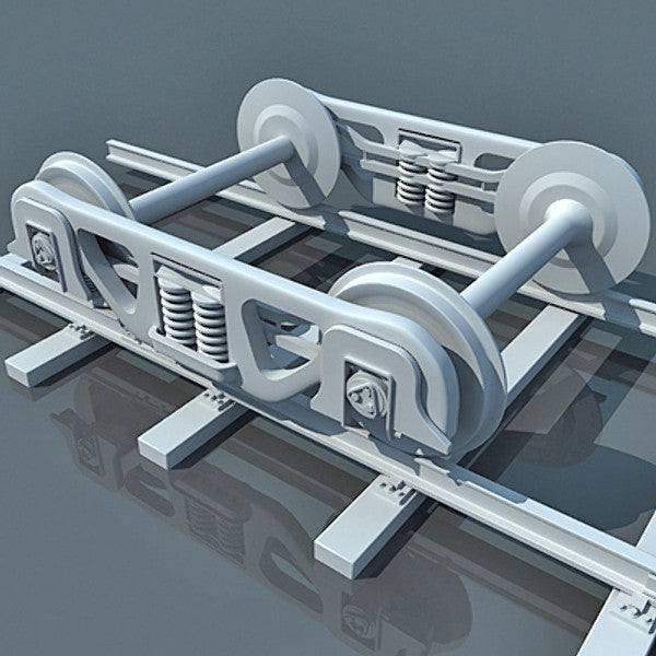 Train Wheels 3D Model