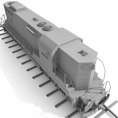 3D Train with Railway