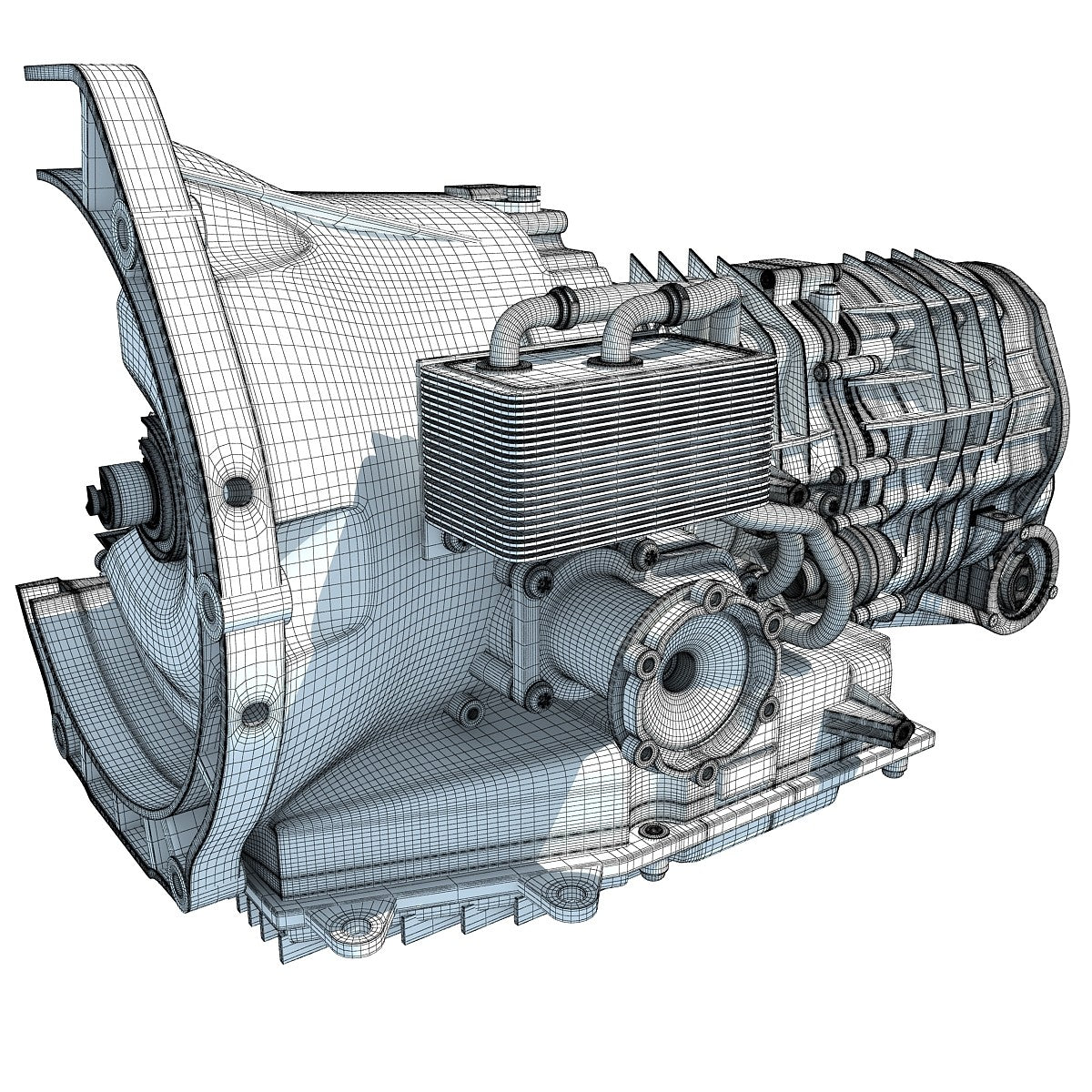 Transmission Cutaway Sectioned 3D Model