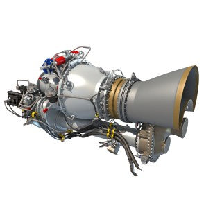 Turboshaft Engine 3D Model