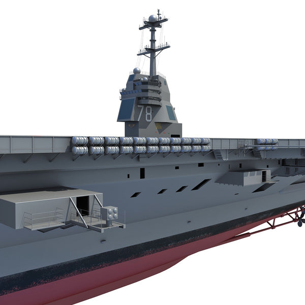 Uss Gerald R Ford Aircraft Carrier 3d Model 3d Horse