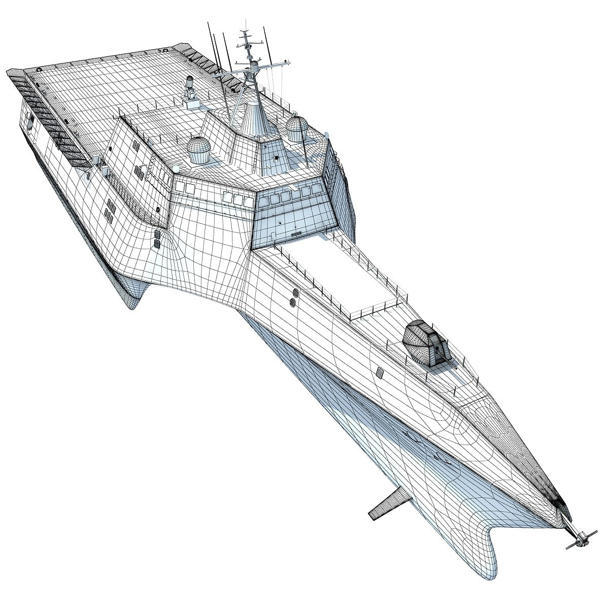 LCS-2 Trimaran Ship 3D Model