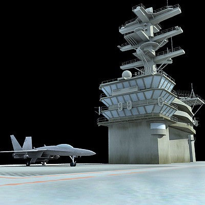 Nimitz Aircraft Carrier 3D Model