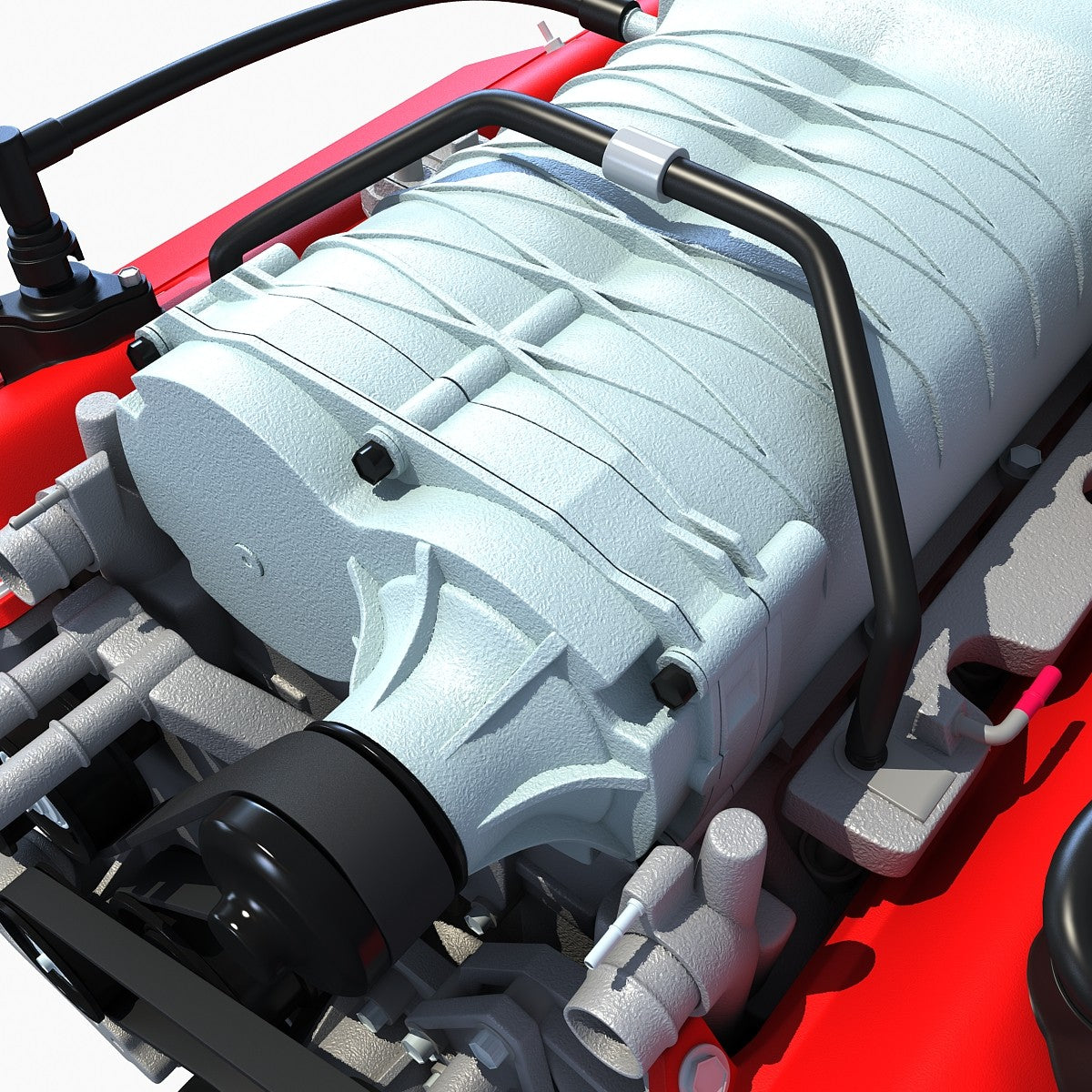 3D Ford Mustang Shelby Engine Model