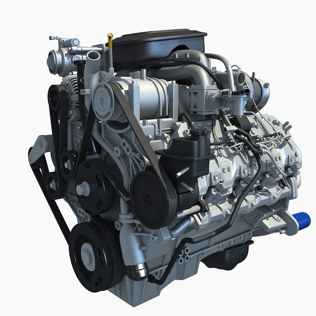 Duramax Diesel Turbo Engine Model