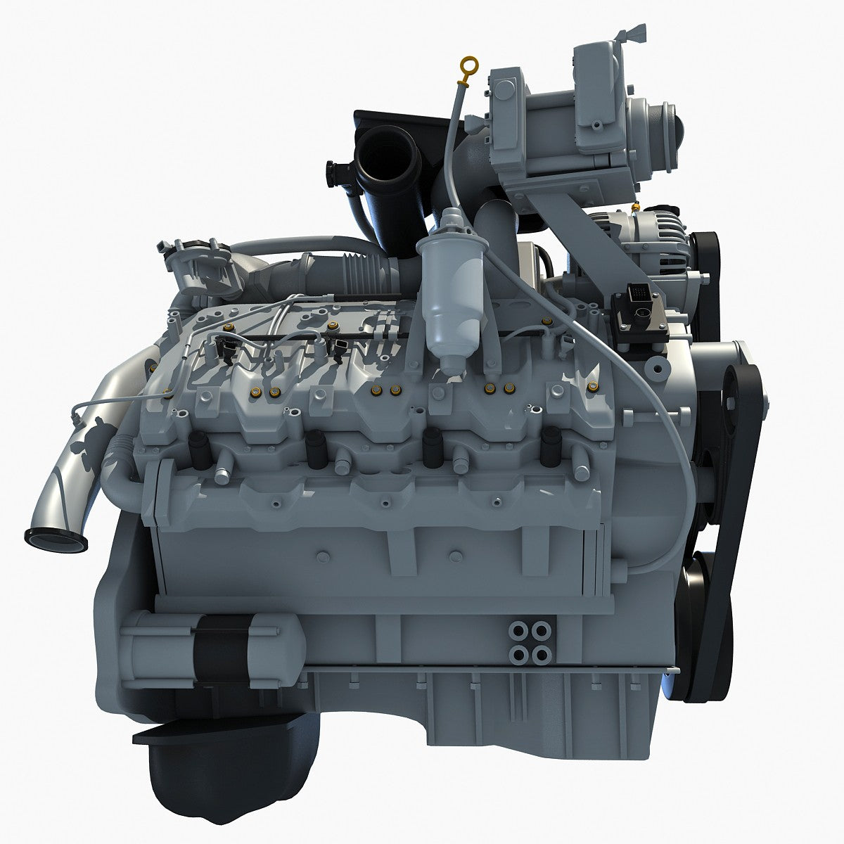 Turbo Engine 3D Model