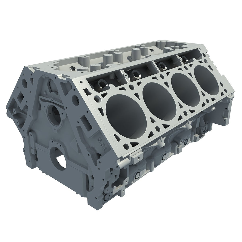 V8 Engine Block 3D Model