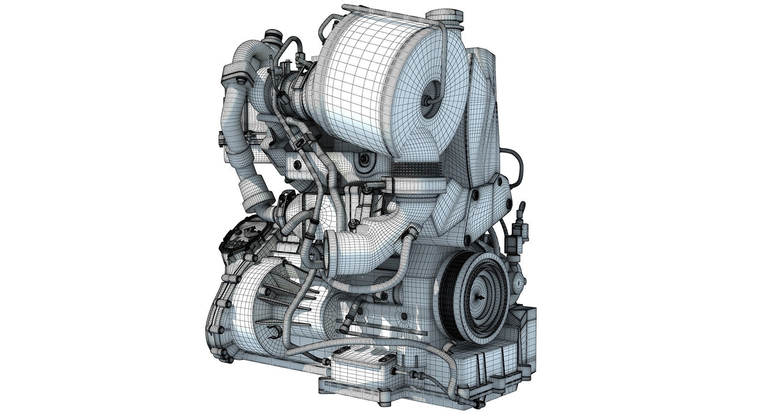 Volkswagen Engine 3D Model