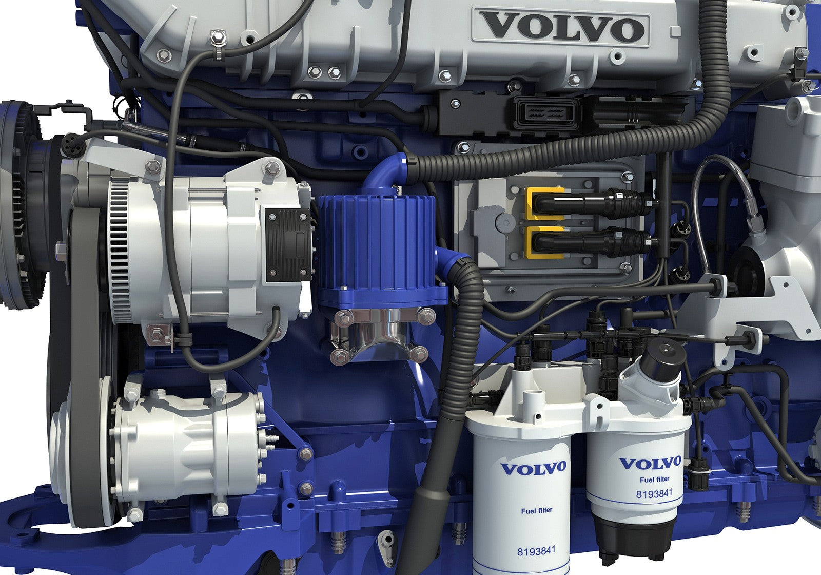 Volvo D13 Fuel Filters Engine Model Horse 1600x1120