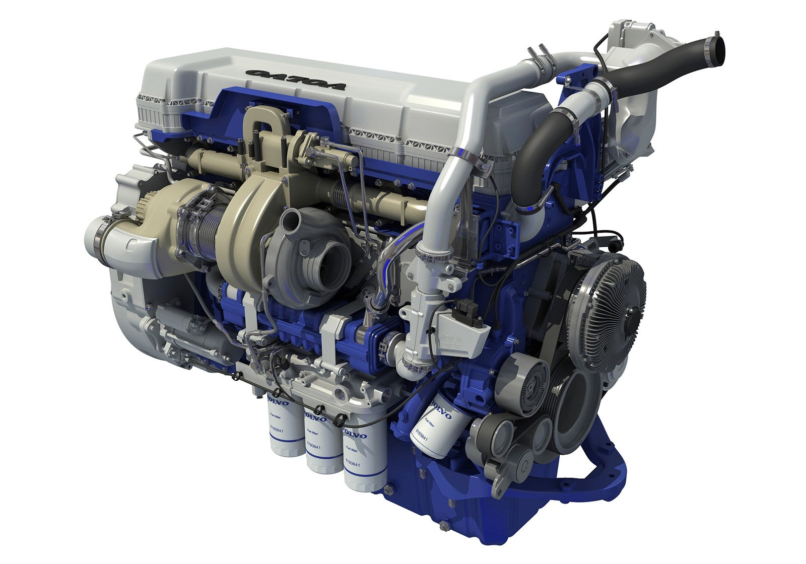 Volvo D13 Engine 3D Model