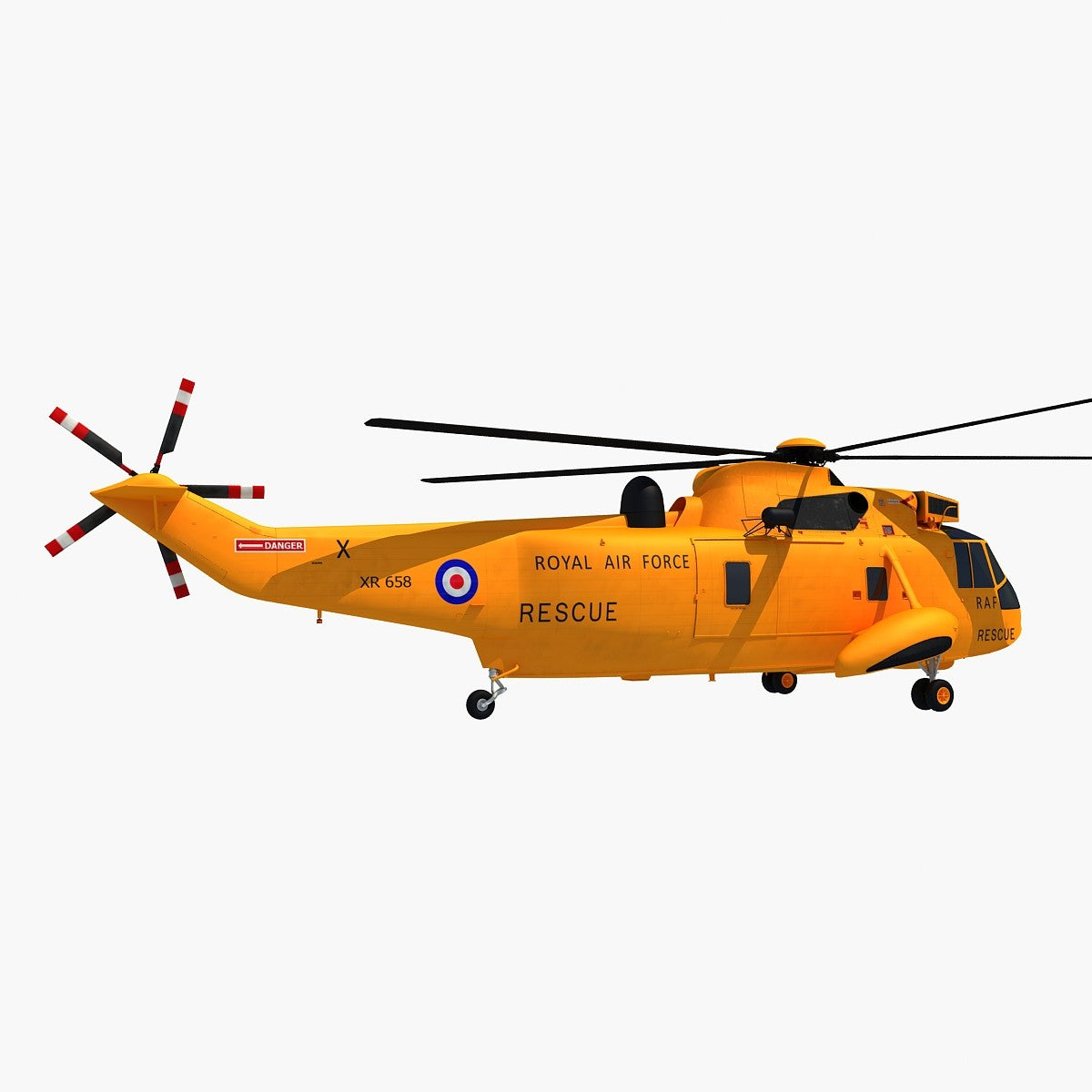 Sea King Helicopter 3D Model