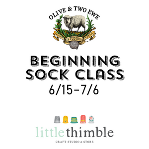 Beginning Sock Class at Little Thimble Craft in Celebration, Florida