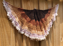 Chocolate Flight Shawlette by Carolyn Edgar