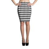 Ethereum Houndstooth Pencil Skirt - by Nakamoto Clothing Co.