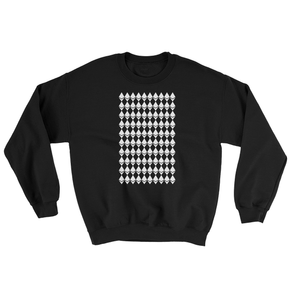 Ethereum Diamond Pattern Sweater Black