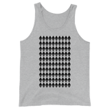 Ethereum Diamond Pattern Tank Top Heather Grey