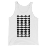 Ethereum Diamond Pattern Tank Top White