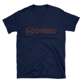 Monero TShirt Navy Art Deco
