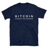 Bitcoin Tshirt 'Unbank the Banked' Navy