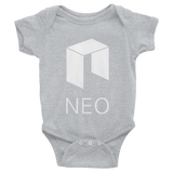 NEO Logo Baby Onesie Heather Grey