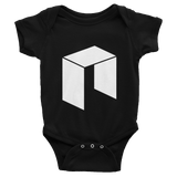 The NEO Logo Baby Onesie Black