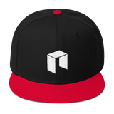NEO Snapback Baseball Hat Black with Red Visor