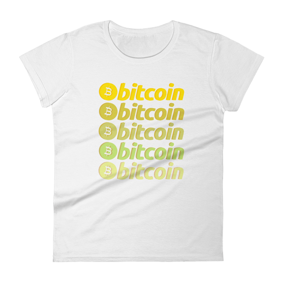 That 70's Bitcoin Ladies Tshirt White