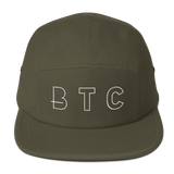 BTC Bitcoin Currency Baseball Hat in Olive with White Embroidery