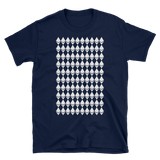 Ethereum Diamond Pattern Tshirt Navy