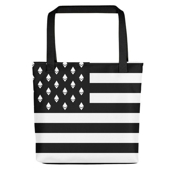 Ethereum American Flag Tote Bag - Nakamoto Clothing Co.