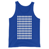 Ethereum Diamond Pattern Tank Blue