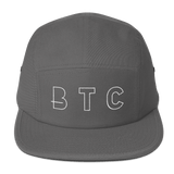 BTC Bitcoin Currency Baseball Hat in Charcoal with White Embroidery