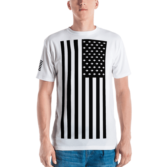 Ethereum American Flag Tshirt - Nakamoto Clothing Co.