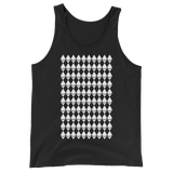 Ethereum Diamond Pattern Tank Top Black