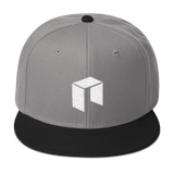 NEO Snapback Baseball Hat Grey with Black Visor