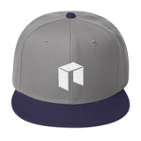 NEO Snapback Baseball Hat Grey with Navy Visor