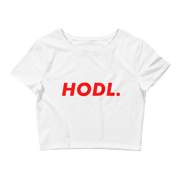 HODL Tshirt Bitcoin White Crop Top