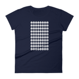 Ethereum Diamond Pattern Ladies Tshirt Navy