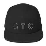 BTC Bitcoin Currency Baseball Hat in Black with White Embroidery