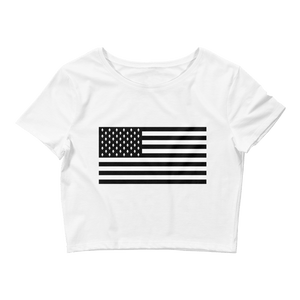 Ethereum American Flag Crop Top - Nakamoto Clothing Co.