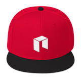 NEO Snapback Baseball Hat Red with Black Visor