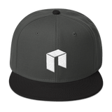 NEO Snapback Baseball Hat Dark Grey with Black Visor